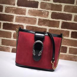 bolso de noche naranja Rebajas Huweifeng4 Carta de Calidad de Diseño Hebilla Superior Estampado de Hombro Bolsa de Cadena de Las Mujeres de Cuero Genuino 499622 Compras bolso de mano