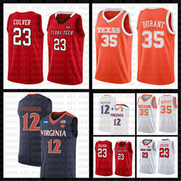 Argentina Texas Tech Red Raiders Kevin 23 Jarrett Culver 35 Ncaa Durant Jersey Virginia Cavaliers 12 D'Andre Hunter university Baloncesto JERSEYS Suministro