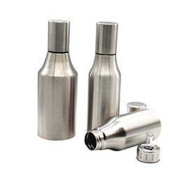 Бутылки с маслом для уксуса онлайн-500 мл из нержавеющей стали оливковое масло диспенсер бутылка масла Выливная герметичный горшок для уксуса соус кухня инструмент W9043