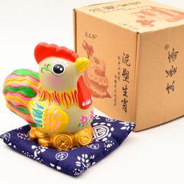 2019 títeres parlantes Doce signos del zodiaco chino arcilla escultura- ornamentos chinos-Niños tradicionales de arcilla hechos a mano juguetes de Cognición