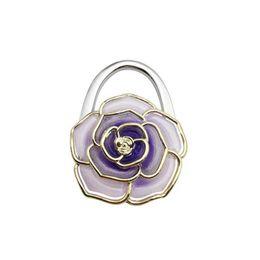 30PCS / LOT Borsa a forma di fiore pieghevole portatile gancio gancio borsa Hange parti accessori borsa borsa borsa a tracolla pieghevole gancio da tavolo da borsa di blocco della sfera fornitori