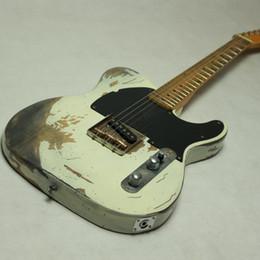 2019 selle di ponte Nuovo prodotto 100% Handmade Relic TL 21 tasti per chitarra elettrica in ottone Selle Bridge invecchiato hardware pesante reliquia sconti selle di ponte