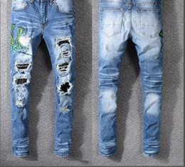 pantaloni da uomo in denim blu di design per uomo, pantaloni slim in denim supplier blue cotton design da disegno blu del cotone fornitori
