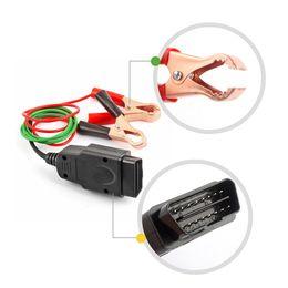 cables de alimentación de la computadora Rebajas Profesional de reemplazo universal OBD2 del automóvil de la batería de la herramienta del cable de suministro de energía de emergencia del coche del ordenador ECU Ahorrador de la memoria automática
