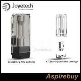 100% original Joytech Exceed Grip Pod Cartucho 3.5 ml Cartucho estándar 4.5 ml en forma Exceed Grip Box Mod EX-M Bobina de malla 0.4ohm desde fabricantes