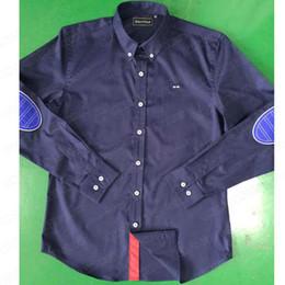 velour plus größe kleider Rabatt Patchwork Classic Dress Shirts Single Langarm Casual Herren Bekleidung Plus size Eden Park Hemd Slim Fashion Business Herren Hemden M-XXL