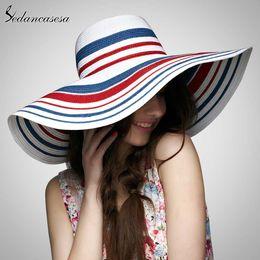 2019 девочки большие пляжные солнечные шляпы Sedancasesa Hot Style Summer Большой Брим Соломенная шляпка для женщин девушки взрослых моды Sun Hat UV Protect Big Summer Beach Сворачивание скидка девочки большие пляжные солнечные шляпы