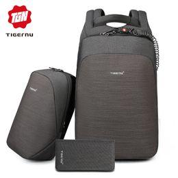 8c9e520951aa9 2019 tigernu rucksäcke Tigernu diebstahlsicherer laptop rucksack usb lade  15.6 rucksäcke männer schlanke wasserdichte schulrucksack tasche