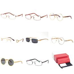 7f00fba149b Optical Frame Sunglasses Luxury Brand Buffalo Horn Women Men Eyeglasses  Designer Classic Driving Glasses Circle Lens Sun glasses C40