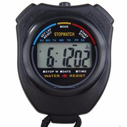 2019 temporizador profesional Nueva llegada Handheld Sports Cronómetro Cronómetro Profesional Digital LCD Sports Cronómetro Cronómetro Contadores de tiempo con correa rebajas temporizador profesional