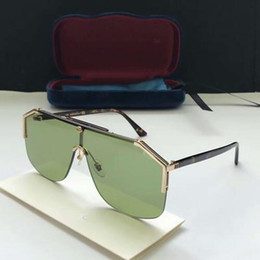 óculos verdes Desconto Mulheres Designer Óculos De Sol De Metal Ouro Pilot Lente Verde Sonnenbrille des lunettes de soleil Designer De Luxo Óculos De Sol Óculos 0291S com caixa