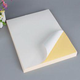 Etichette per la spedizione online-Etichette di spedizione prezzo di fabbrica A4 Adesivo autoadesivo di carta lucido Bianco opaco Carta adesiva in bianco Carta da stampa etichetta 100 fogli / borsa