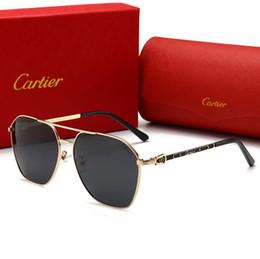 2019 lados de cuero gafas Gafas de sol de diseñador Gafas de sol de lujo Marca 0129 Gafas para hombres Mujeres Gafas con encanto Conducción UV400 Moda Verano Alta calidad con caja