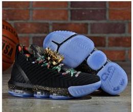 Canada Nouveau lebron 16 Regardez Le Trône Hommes Chaussures De Basketball Noir Métallisé Or-Rose Frost James 16 KC Or Lacelocks Hommes Athletic Sports Traine Offre