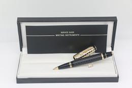 2019 caneta de ouro preto Qualidade superior de Ouro e cor preta Bohemies Rollerball pen escritório papelaria com Diamante inlay Guarnição e Alemanha Marcas Número de Série caneta de ouro preto barato