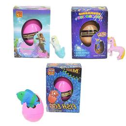 Prueba EVA aprobada unicornio sirena y peces tropicales Huevo de Pascua novedad burbuja niño juguete pequeño regalo con paquete al por menor desde fabricantes