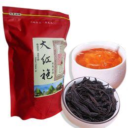 Bande d'étanchéité en Ligne-Hot ventes 250g Thé noir bio chinois Dahongpao Big Red Robe oolong thé santé du Nouveau Thé vert cuit alimentaire emballage bande d'étanchéité