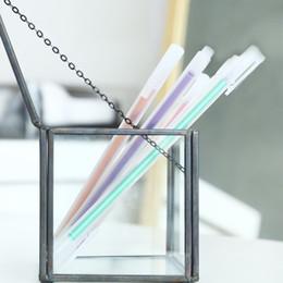 Весело офисные подарки онлайн-Новый 0.5 мм 14 цветов гелевые ручки, красочные канцелярские ручки Каваи стационарные забавные офисные подарки симпатичные стационарные
