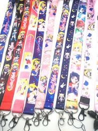 Corda del marinaio online-Nuovo 30pcs cartone animato Sailor Moon laccio Cordini Badge Holder corda pendente di chiave catena Picc
