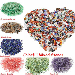 chip stone jewelry wholesale Coupons - 18 Colors Natural Crystal Mixed Stones Tumbled Chips Crushed Stone Healing Crystal Jewelry Making Home Decoration