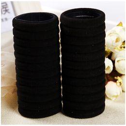 черные галстуки для детей Скидка 30 шт. Черный девочки дети дети эластичное кольцо волос веревка галстуки хвост держатели парикмахерские инструменты резинка для волос аксессуары