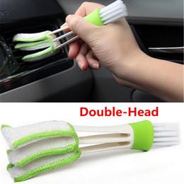 Cepillo de limpieza de ventilación de coche online-1 unids Mini Duster Air Vent Blinds Duster Cepillo de limpieza Cepillo para polvo Interior del coche Salidas de aire del coche Herramientas de limpieza