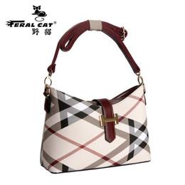 Женские сумочки онлайн-Дикие кошки женские кожаные сумки на ремне для дам Дешевые конструктора высокого качества сумки моды сумка 2017 года