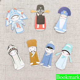 Argentina 7PCS / set Creative Peking Opera Bookmark papelaria bookmark boekenlegger Bookmarks for Read Books Holder School Supplies Suministro