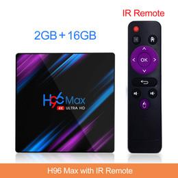 Smart tv box android 4k en Ligne-H96 Max Android 9.0 TV Box 2G16G RK3318 double WIFI Smart TV BOX télévision 4K smart