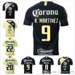 615751d90 1 18 19 Club de Futbol America Home Away Soccer Jerseys 2019 Mexico  8  MATHEUS  22 P.AGUILAR  10 C.DOMINGUEZ  23 O.PERALTA Football Shirts
