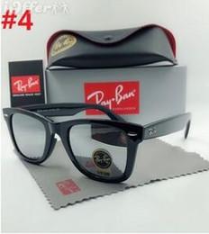 83c402bf25 Lentes Top Quality Novos óculos de sol Vintage Pilot Ray-Ban Homens  Mulheres UV400 Banda polarizada BEN Gafas espelho óculos de sol com casos e  Box