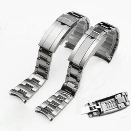 2019 tela de bandera de nylon Marcas de 20 mm de acero inoxidable de plata cepillado polaco correas de reloj de la correa Para submarino Rolex Sub-Mariner Pulsera