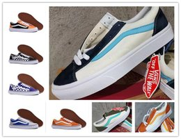 Scarpe fashion club online-Vans Shoes Men Women Classic Van Old Skool Sk8-HI Mens Womens Canvas Sports Sneakers Black White Red YACHT CLUB Fashion Casual Shoes
