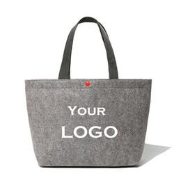 sacs à main en couleur blanche Promotion Sac en feutre de laine personnalisé en gros 300pcs / lot beaucoup de couleurs à choisir Big Christmas Shopping Bag sacs fourre-tout pour les femmes