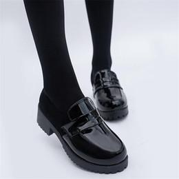 zapatos de mucama Rebajas Lindo Lolita Maid muchacha de las mujeres zapatos de los cargadores zapatos de cuero punta redonda uniforme japonesa JK Escuela Superior de Kawaii del animado de Cosplay