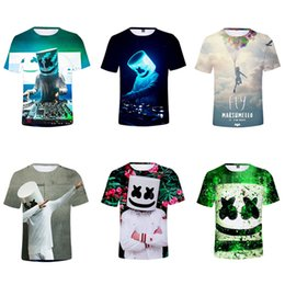 Deutschland 3D DJ Marshmello Kinder T-Shirt Puzzle Männer Frauen Harajuku Freunde T-Shirt Streetwear Gothic Sweat Kawaii Tops Kinderkleidung Versorgung