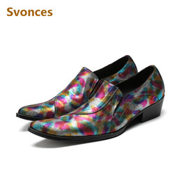 Мужская обувь онлайн-New Mixed Color Genuine Leather Man Shoes Gentleman Dressing Customized Shoes Men Plus Size  Slip-On Flats Soulier Homme