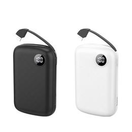 Mini Power Bank 10000 мАч Dual USB Powerbank Портативные зарядные устройства для телефонов Внешнее зарядное устройство USB зарядное устройство со светодиодной подсветкой от