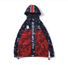 hoodies japonais hommes Promotion Hommes 's camouflage hommes'; s hoodies coupe-vent hoodies mode manteau de loisirs manteau marque populaire revers japonais t