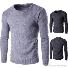 männer vollfarb-pullover Rabatt Winter-Männer Kaschmir-Pullover Herren Crewneck Wollpullover Pullover Solid Color Authentic Top Männer Jumpers Pull Homme Plus Size M-2XL