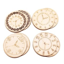 Festival Ornament Embellishment Figurines Craft Wooden Card Bell Clocks Shapes
