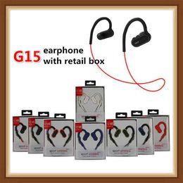 2019 fone de ouvido bluetooth oppo 2019 G15 Baixo Esporte Headset Universal Bluetooth Fones de energia Waterproof Headphones Auriculares estéreo Earbuds marca G5 3 Com Mic DHL livre
