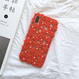 einzigartiges telefongehäuse design Rabatt Designer Phone Cases für Iphone XR Hülle Slim Fashion Models Flower Cover für Iphone X XS XS MAX 8 7 6 Plus Hülle Unique Hollow Design Shell