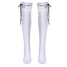 2019 chicas coreanas calcetines encaje Tubo de encaje de alta calcetines de algodón de Corea de escuela secundaria muslo de encaje medias deportivas polainas mulher inverno calcetines de las mujeres de las niñas chicas coreanas calcetines encaje baratos