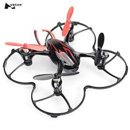 Rc videos voladores online-Hubsan X4 H107C RC Drone 4CH 6 ejes Gyro RC Quadcopter con cámara de 0.3MP HD Steady Flying Play Grabaciones de video Sky de alta calidad