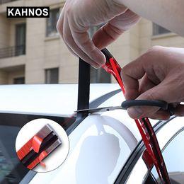 Bande d'étanchéité en caoutchouc de voiture en Ligne-Caoutchouc de fenêtre de voiture avant arrière Pare-brise bord Bandes d'étanchéité de toit d'auto Protecteur Joint bruit Accessoires Isolation