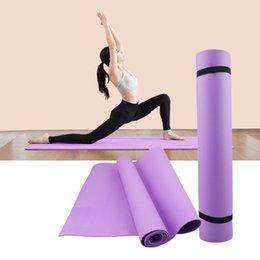 Cobertor de pvc on-line-4MM PVC Yoga Mats anti-derrapante Blanket PVC Ginástico Esporte Saúde perder peso fitness exercício Pad Mulheres Esporte Yoga