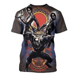 Panther kleidung online-Avengers Panther 3D Gedruckt T-shirts für Herren Kleidung Sommer Oansatz Designer T shirt Kurzarm T-shirts