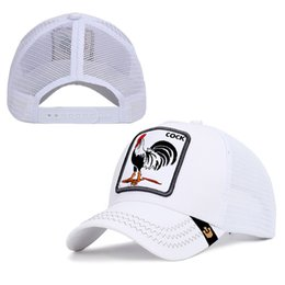 style flat ball cap Coupons - Custom Baseball Cap Hip-hop Street Fashion style Personality high quality Outdoor Cute Animal cock Rooster Sport Hat Caps For Women and Men
