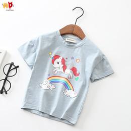 ec904f9f9e49f t-shirt à coudre Promotion Bonne qualité Filles D été T-shirts Poney